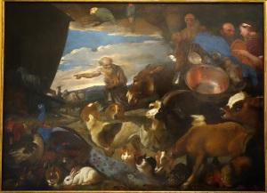 Entry_of_the_Animals_into_the_Ark,_by_il_Grechetto_(Giovanni_Benedetto_Castiglione),_view_1,_undated,_oil_on_canvas_-_Accademia_Ligustica_di_Belle_Arti_-_DSC02189