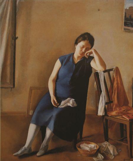Virgilio Guidi, Ritratto di Adriana (1928)