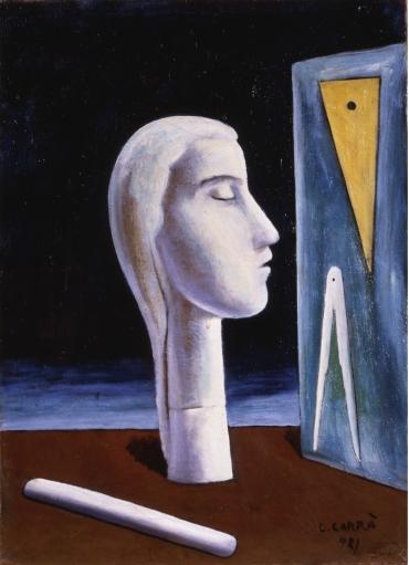 Carlo Carrà, L'amante dell'ingegnere (1921)