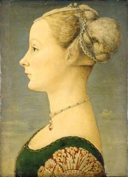 Piero del Pollaiolo, ritratto di giovane donna