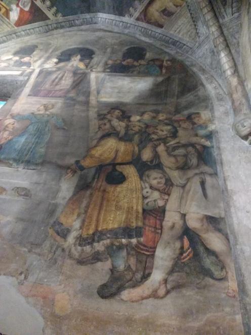 G. Romanino, Presentazione di Maria al Tempio (particolare), Chiesa di S. Maria Annunciata, Bienno (1541)