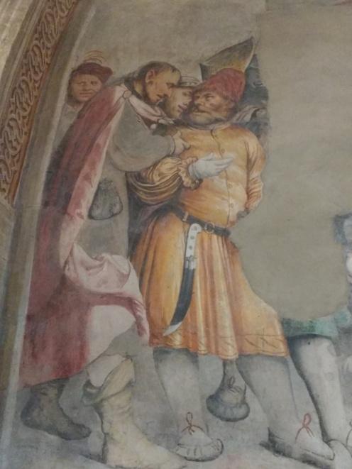 G. Romanino, Giuda con i farisei, Chiesa di S. Antonio, Breno (1536-7)