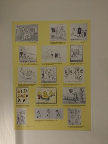 Una raccolta di vignette satiriche sull'arte degli anni '60.