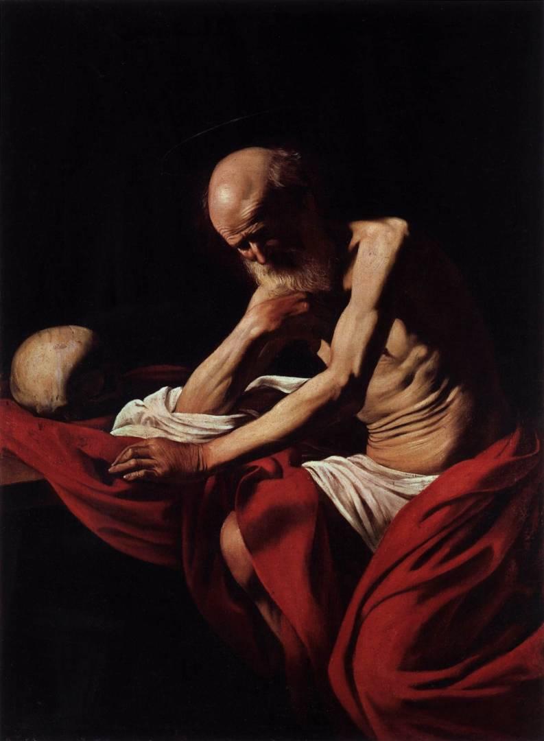 caravaggio-San Girolamo